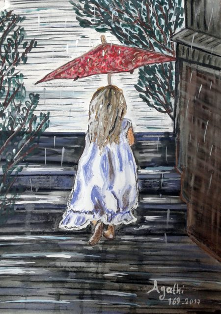 κοριτσι -βροχη